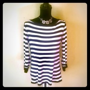 Black and White Cotton Top